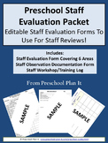 Preschool Staff Evaluation Packet