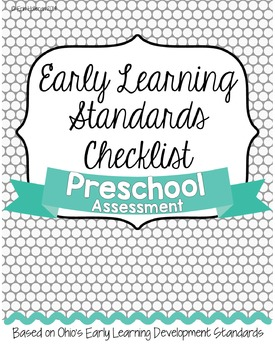 Preschool Standards Assessment EDITABLE