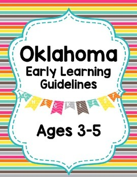 Oklahoma Ages 3-5 Preschool Standards Checklist Editable