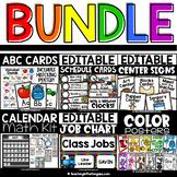 Schedule Cards, Alphabet Wall Cards, Job Chart, Calendar, Center Signs BUNDLE