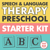 Preschool Starter Kit for Speech and Language Therapy