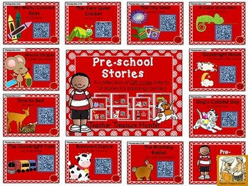 Preschool Story Collection ~ QR Codes ~ Great for listening centers