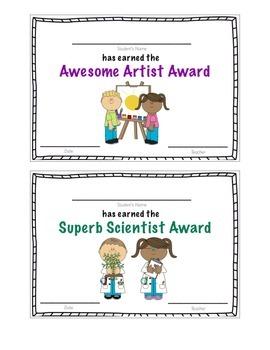 Preschool Student Awards