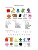 Preschool Study Sheet