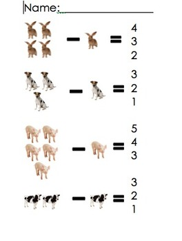 Preschool Subtraction