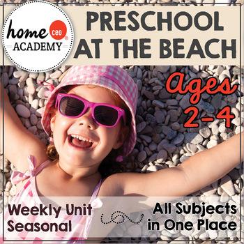 Summer Preschool Unit - Lesson Plan & Printables for Preschool, PreK, Homeschool