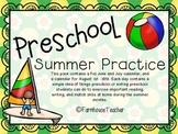 Preschool Summer Calendar (2018)