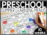 Preschool Summer Distance Learning Menus | GOOGLE SLIDES™ READY |