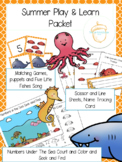 Preschool Summer Ocean Play Packet