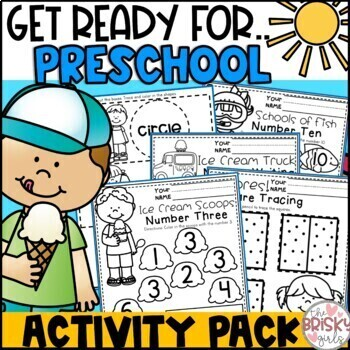 Preschool Summer Packet (PreK Summer Packet) (Preschool Summer Printables)
