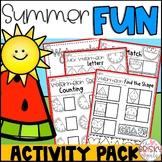Preschool Summer Packet