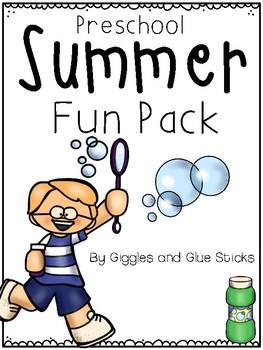 Preschool Summer Practice Pages