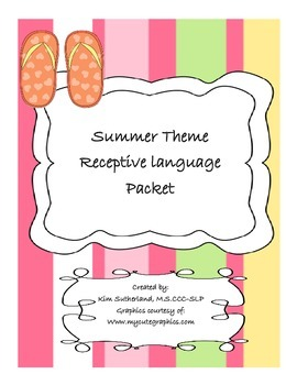 Preschool Summer Receptive Language Packet