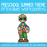 Preschool Summer Theme Bundle PERFECT FOR DISTANCE LEARNING