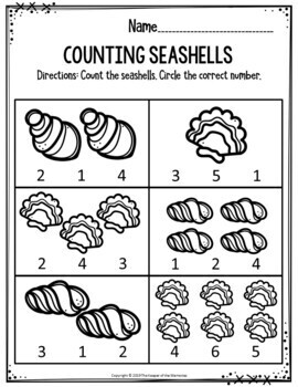 Preschool Summer Theme Printable Worksheets