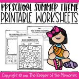 Preschool Summer Theme No Prep Printable Worksheets
