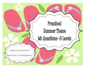 Preschool Summer Theme WH questions