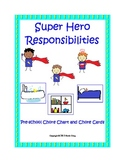 Preschool Super Hero Chore Chart and Cards