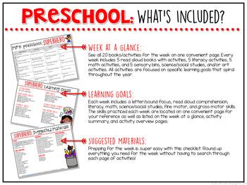 Preschool: Superheroes {Plans and Printables}