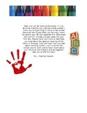 Preschool Survival Kit, Back to School, Meet the Teacher Night