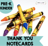 Thank you and Gratitude printable notes for PRESCHOOL aged children