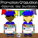 Diplomas and Invitations for Preschool, TK, and Kindergarten Graduation