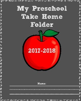 Preschool Take Home Folder 2017-2018