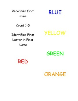 Preschool Task Booklet