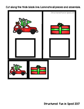 Task Box Christmas Identical Match Set 2 for Preschool, Pre-K and Special Needs