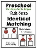 Task Box Christmas Identical Match Set 3 for Preschool, Pre-K and Special Needs