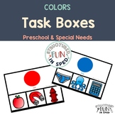 Learning Colors Task Boxes Cards 5x7 for Preschool, Pre-K and Special Needs