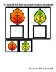 Task Box Fall Identical Match Set 2 Cards for Preschool, Pre-K and Special Needs