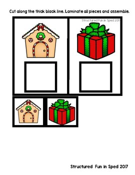 Task Box Christmas Identical Match Set 1 for Preschool, Pre-K and Special Needs
