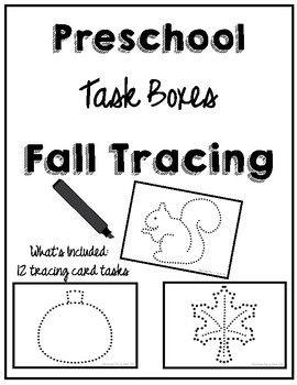 Preschool Task Box Fall Tracing Cards 5x7