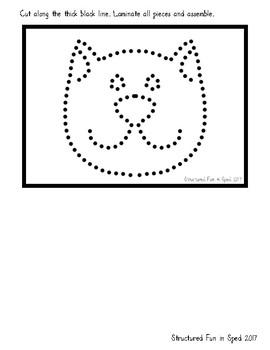 Preschool Task Box Halloween Tracing Cards 5x7
