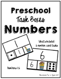 Task Box Numbers (1-6) for Preschool, Pre-K and Special Needs