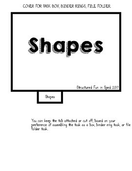 Preschool Task Box Shape Cards 5x7