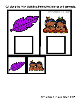Task Box Thanksgiving Match Set 1 Cards for Preschool, Pre-K and Special Needs