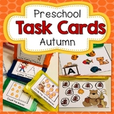 Preschool Task Cards Fall Themed