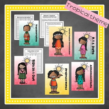 Preschool Teacher BEST BINDER in Tropical Theme