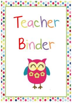 Preschool Teacher Binder