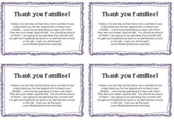 Preschool Teacher Farewell Letter :(