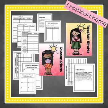Lesson Plan FORMS & Preschool Planning Pages in Tropical Theme