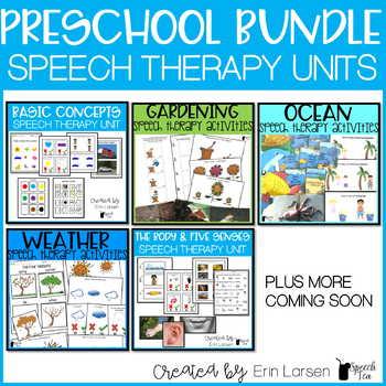 Preschool Thematic Speech and Language Growing Bundle