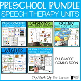 Preschool Speech Therapy Thematic Units BUNDLE