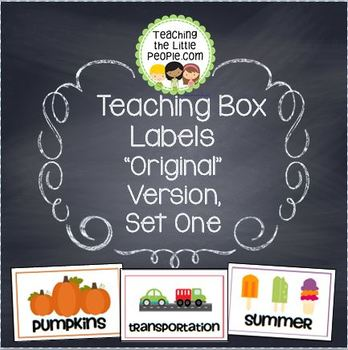 Preschool Theme Labels for Organizing Materials