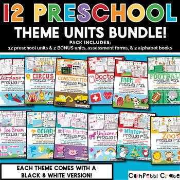 Preschool Activities Bundles (12 theme units & 4 free bonuses)
