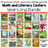 Preschool and PreK Math and Literacy Centers for the Year