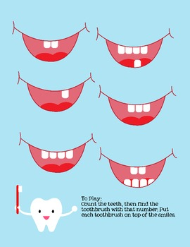 Preschool Tooth Counting Game