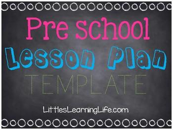Preschool Tot school Lesson Plan Template